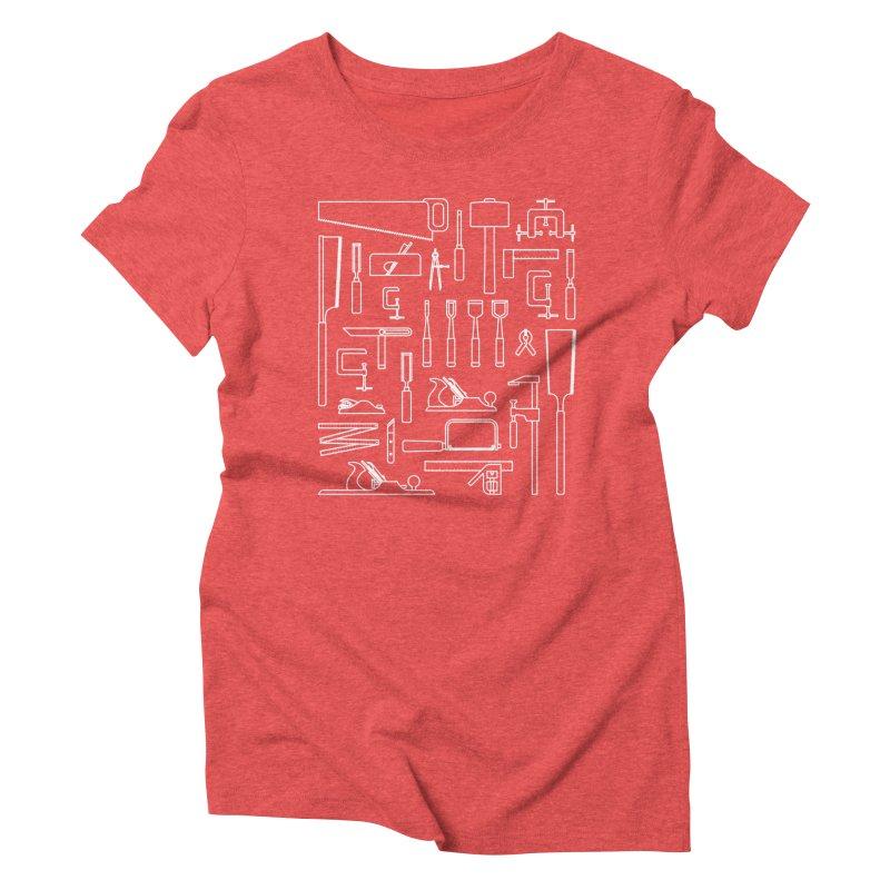 Woodworking Tools III Women's Triblend T-Shirt by Mouki K. Butt: Artist Shop