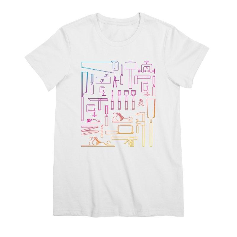 Woodworker's Toolkit II Women's Premium T-Shirt by Mouki K. Butt: Artist Shop