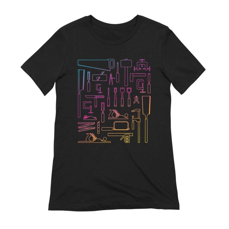 Woodworker's Toolkit II Women's Extra Soft T-Shirt by Mouki K. Butt: Artist Shop