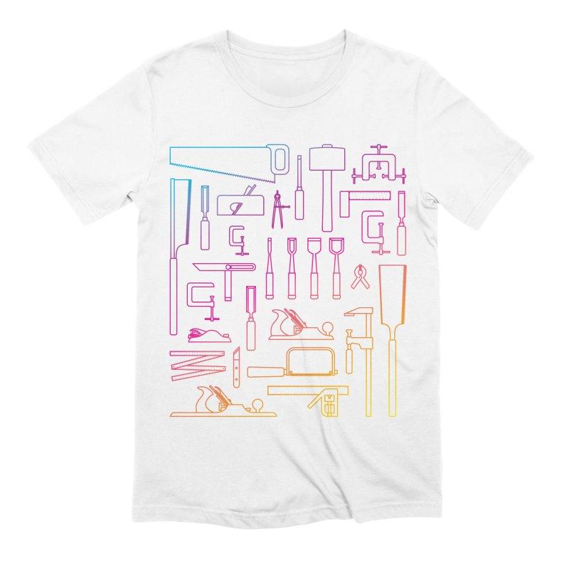 Woodworker's Toolkit II Men's Extra Soft T-Shirt by Mouki K. Butt: Artist Shop