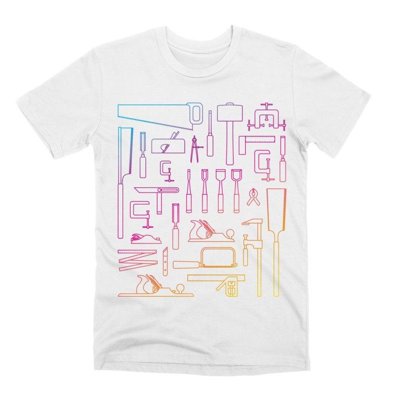 Woodworker's Toolkit II Men's Premium T-Shirt by Mouki K. Butt: Artist Shop