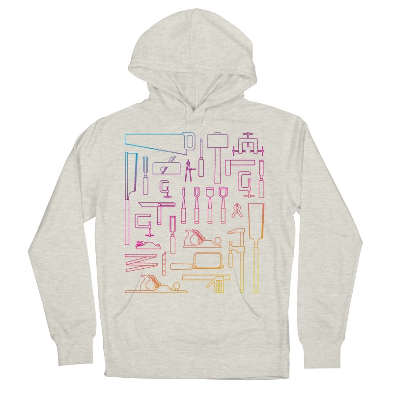 Woodworking Tools IV Women's French Terry Pullover Hoody by Mouki K. Butt: Artist Shop