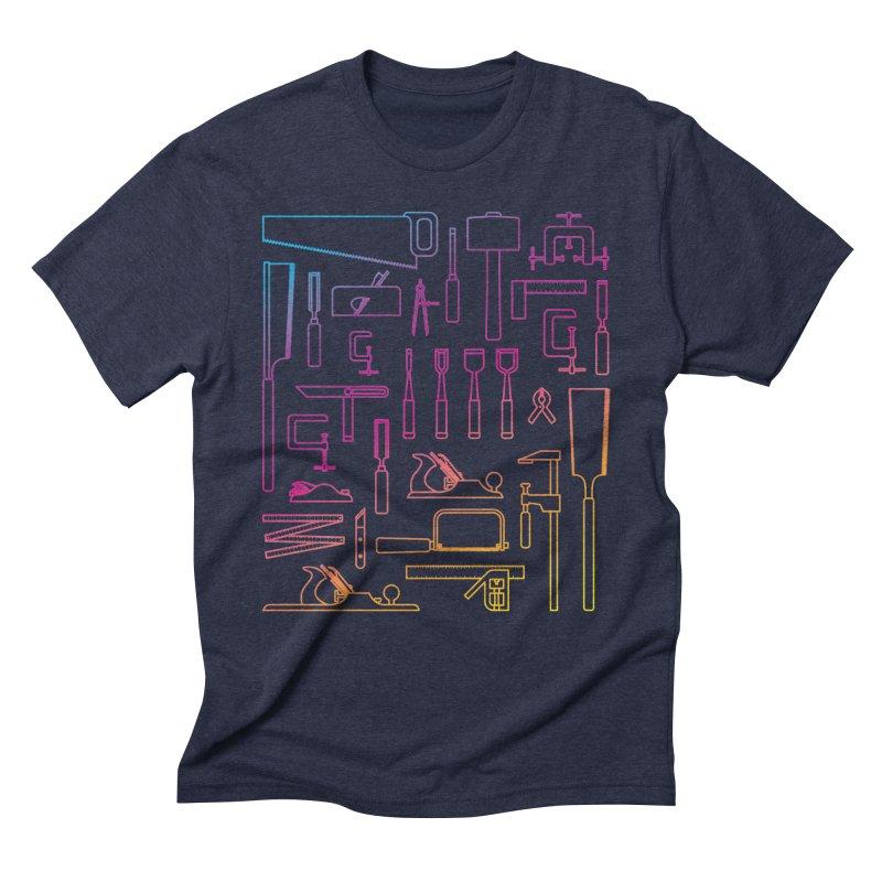 Woodworker's Toolkit II Men's Triblend T-Shirt by Mouki K. Butt: Artist Shop