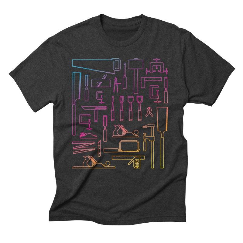 Woodworking Tools IV Men's Triblend T-Shirt by Mouki K. Butt: Artist Shop