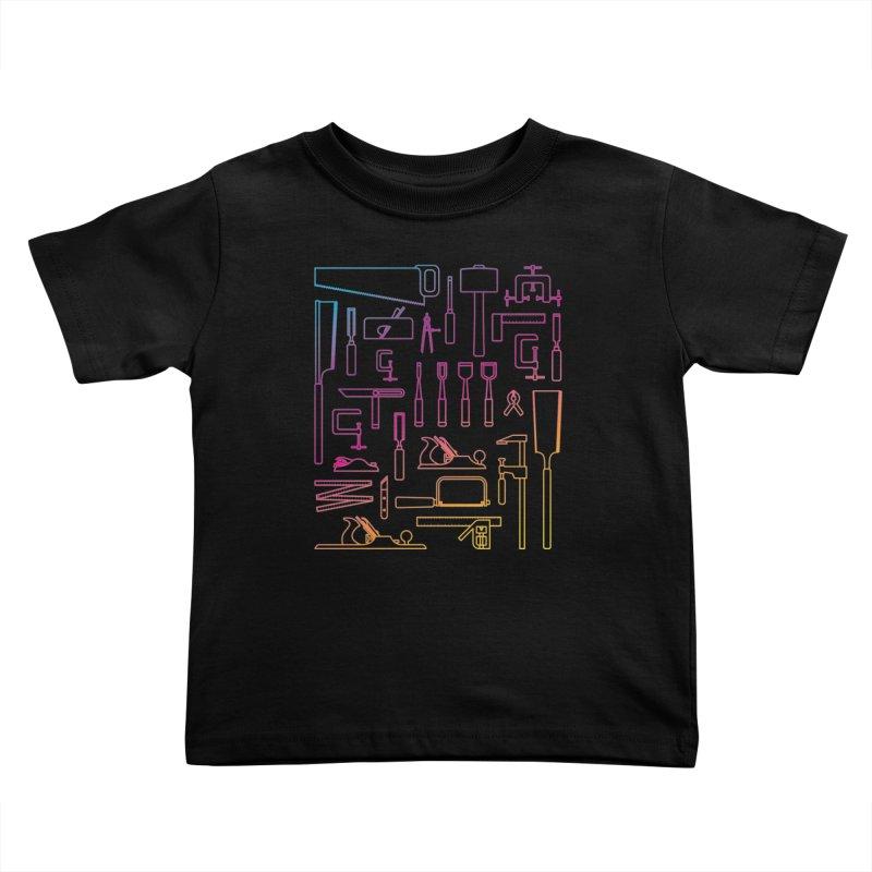 Woodworker's Toolkit II Kids Toddler T-Shirt by Mouki K. Butt: Artist Shop