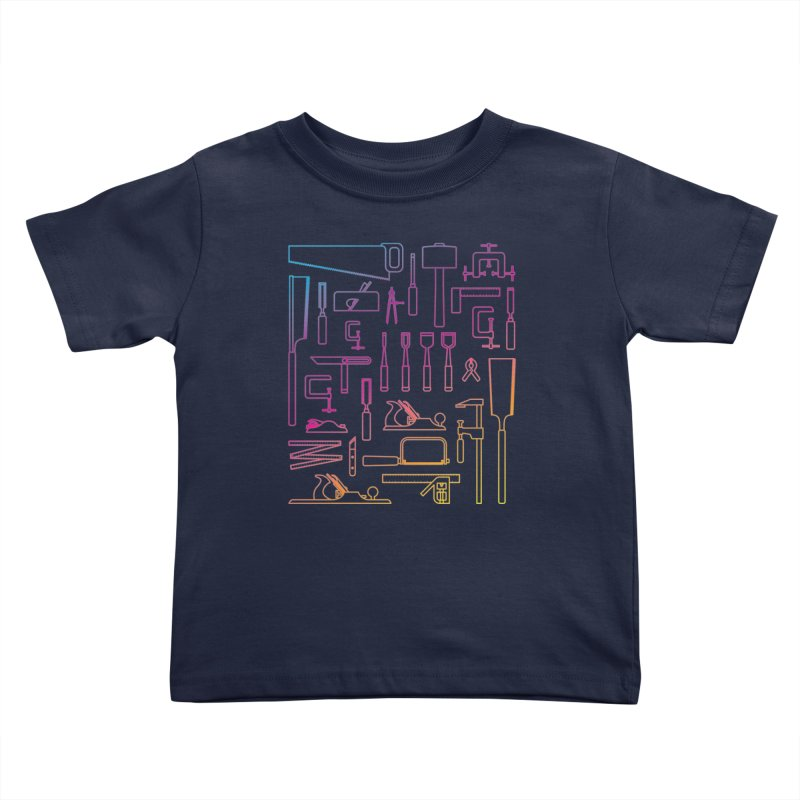 Woodworker's Toolkit II Kids Toddler T-Shirt by Mouki K. Butt: Artist Shop