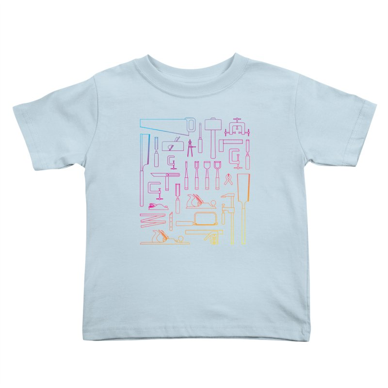 Woodworking Tools IV Kids Toddler T-Shirt by Mouki K. Butt: Artist Shop