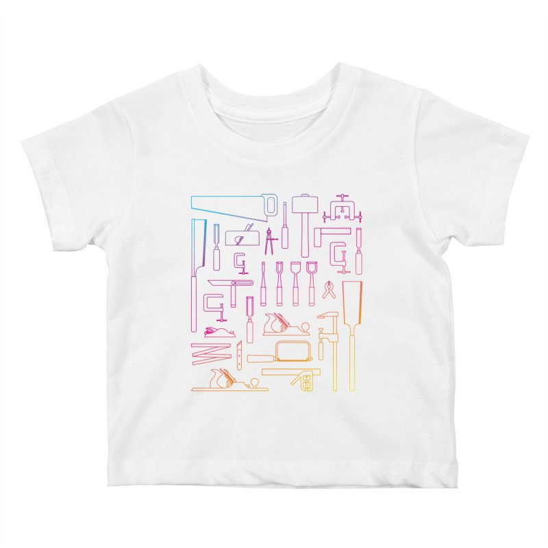Woodworker's Toolkit II Kids Baby T-Shirt by Mouki K. Butt: Artist Shop