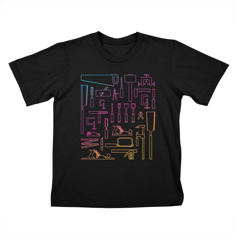 Woodworker's Toolkit II Kids T-Shirt by Mouki K. Butt: Artist Shop