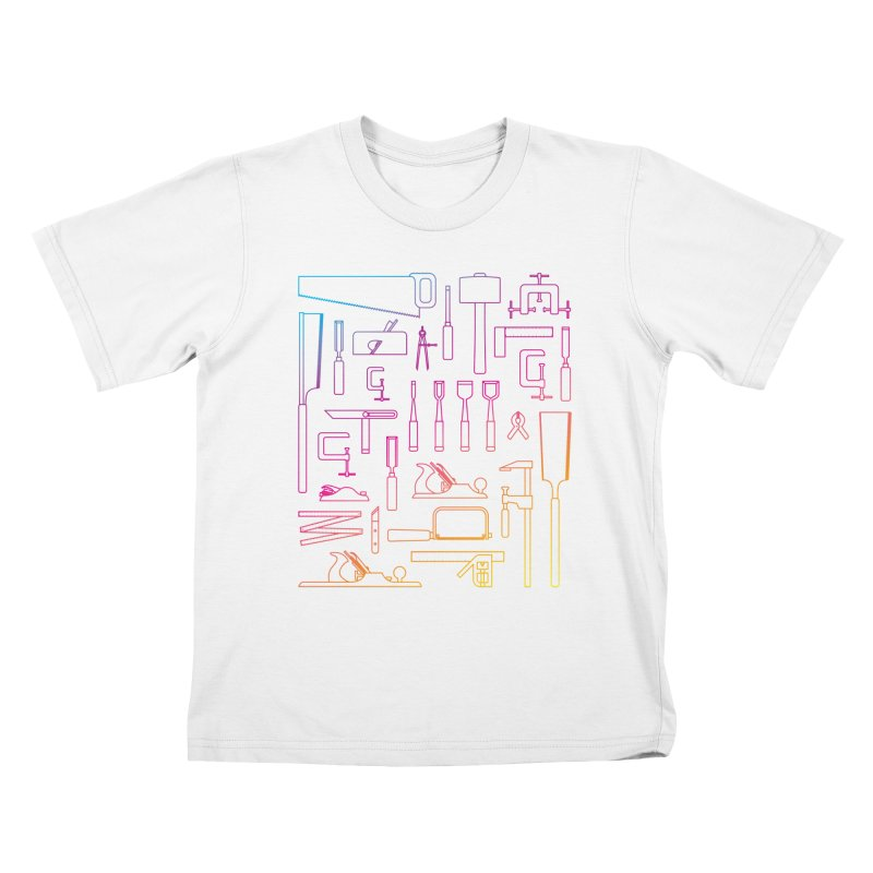 Woodworking Tools IV Kids T-Shirt by Mouki K. Butt: Artist Shop