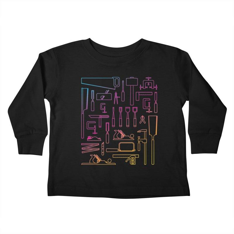 Woodworking Tools IV Kids Toddler Longsleeve T-Shirt by Mouki K. Butt: Artist Shop