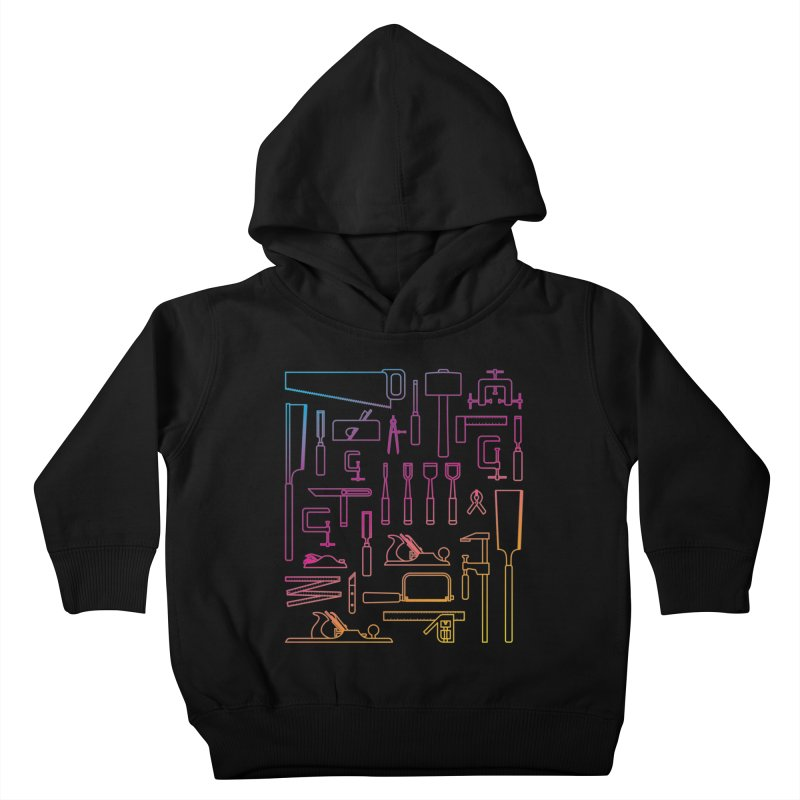 Woodworking Tools IV Kids Toddler Pullover Hoody by Mouki K. Butt: Artist Shop