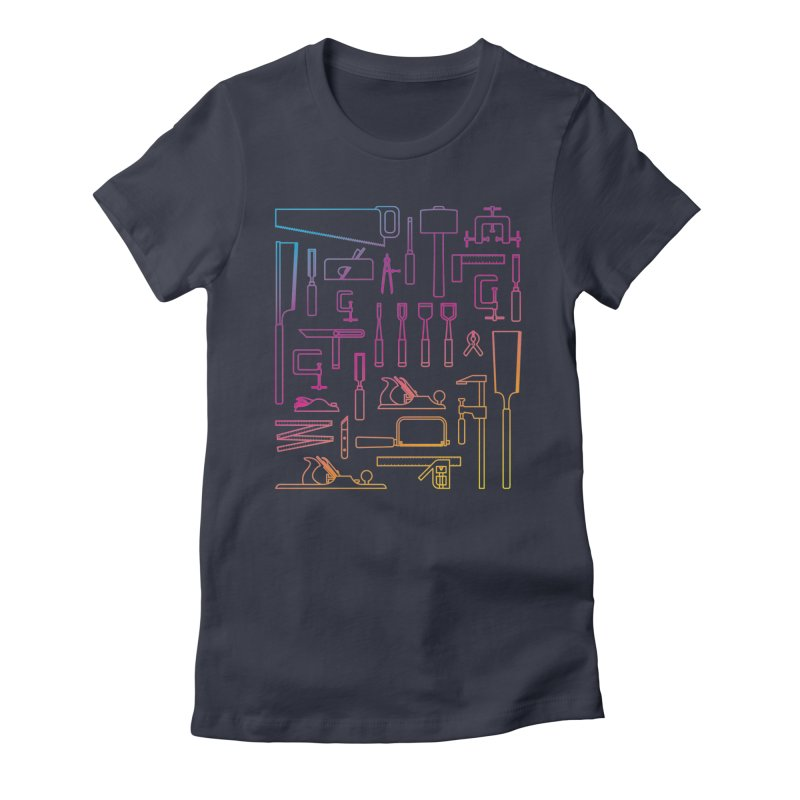 Woodworker's Toolkit II Women's Fitted T-Shirt by Mouki K. Butt: Artist Shop