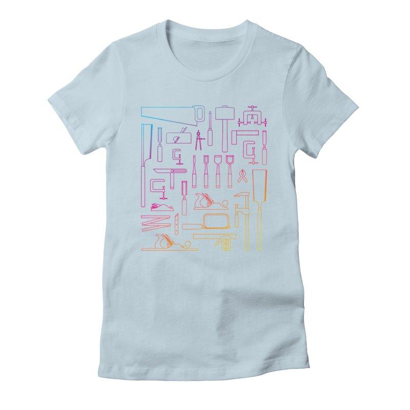 Woodworker's Toolkit II Women's T-Shirt by Mouki K. Butt: Artist Shop