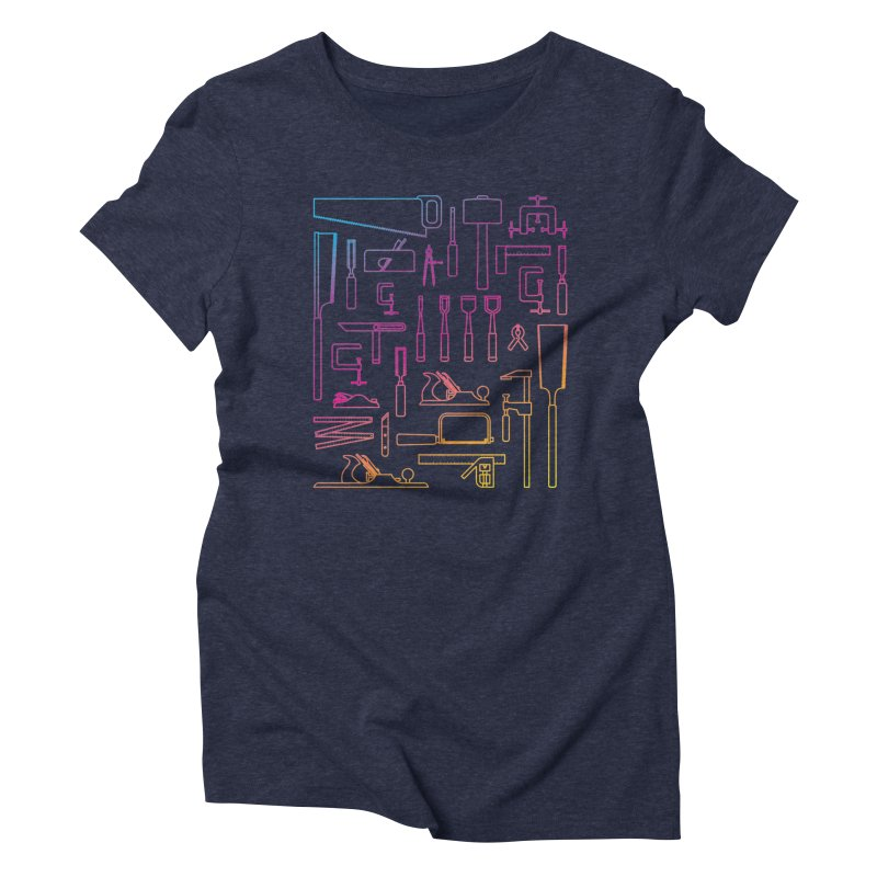 Woodworker's Toolkit II Women's Triblend T-Shirt by Mouki K. Butt: Artist Shop
