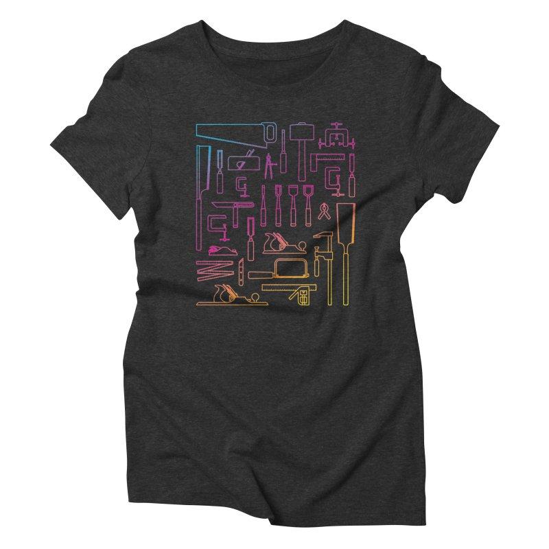Woodworking Tools IV Women's Triblend T-Shirt by Mouki K. Butt: Artist Shop