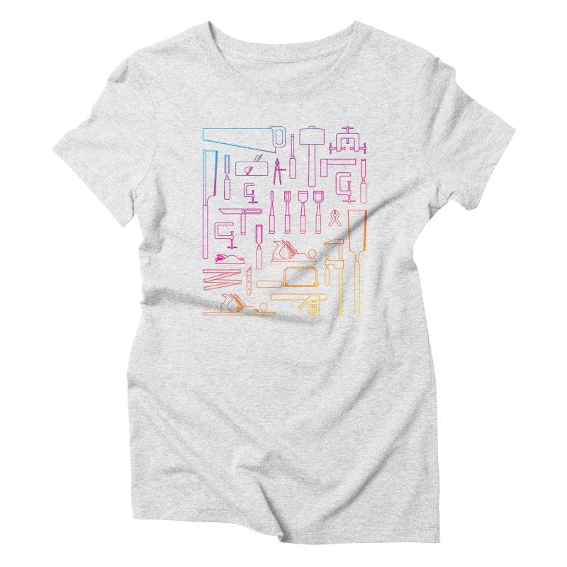 Woodworker's Toolkit II Women's Triblend T-Shirt by Mouki K. Butt: Artist Shop