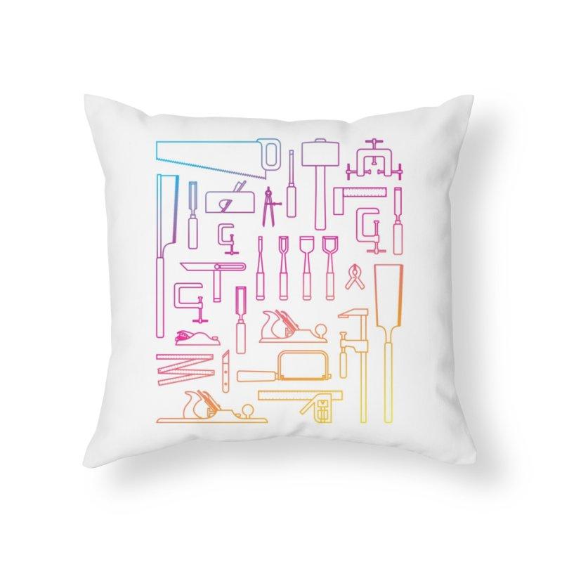Woodworker's Toolkit II Home Throw Pillow by Mouki K. Butt: Artist Shop