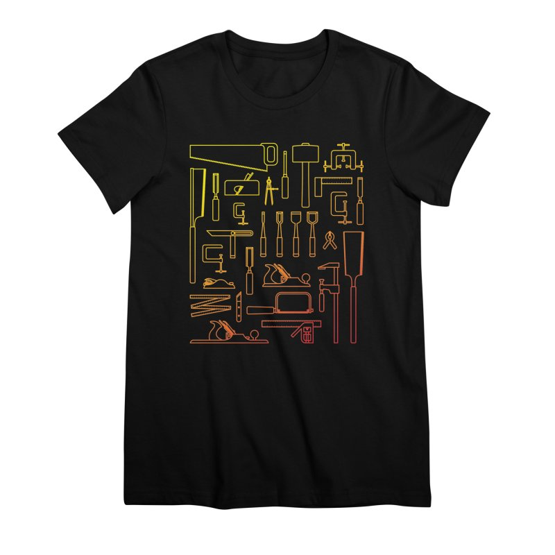 Woodworker's Toolkit Women's Premium T-Shirt by Mouki K. Butt: Artist Shop