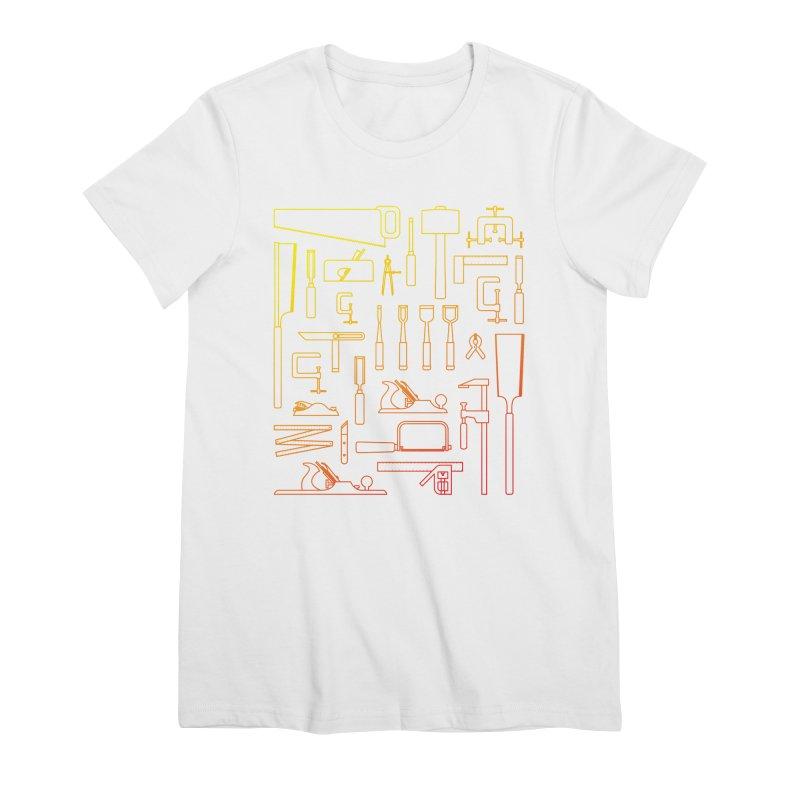 Woodworker's Toolkit Women's Premium T-Shirt by Mouki K. Butt: Artist Shop