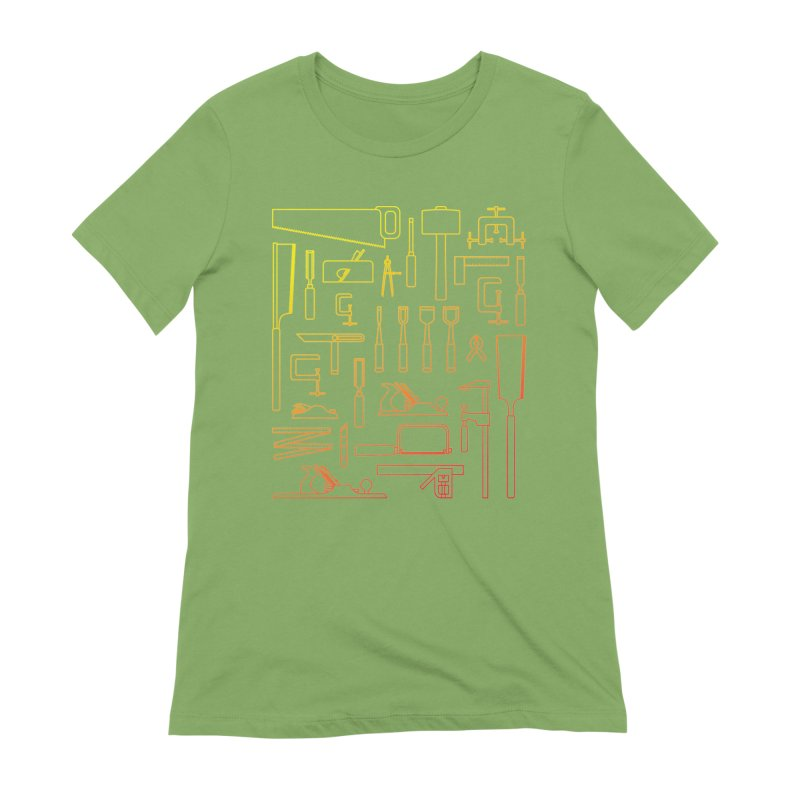 Woodworker's Toolkit Women's Extra Soft T-Shirt by Mouki K. Butt: Artist Shop