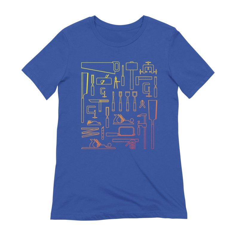 Woodworker's Toolkit Women's Extra Soft T-Shirt by Mouki K. Butt: Artist Shop