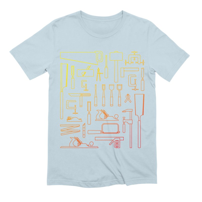 Woodworker's Toolkit Men's Extra Soft T-Shirt by Mouki K. Butt: Artist Shop