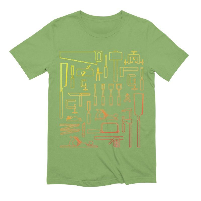 Woodworker's Toolkit Men's Extra Soft T-Shirt by Mouki K. Butt: Artist Shop