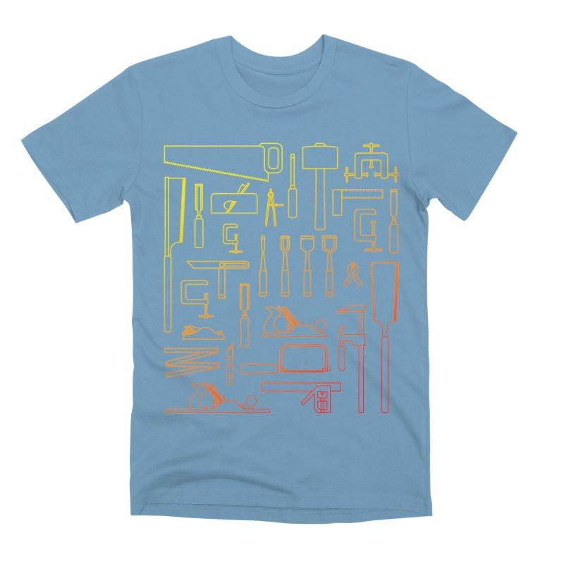 Woodworker's Toolkit Men's Premium T-Shirt by Mouki K. Butt: Artist Shop
