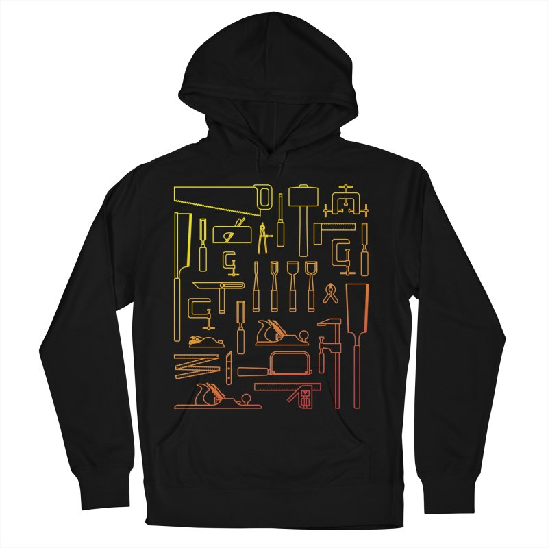 Woodworking Tools V Men's French Terry Pullover Hoody by Mouki K. Butt: Artist Shop