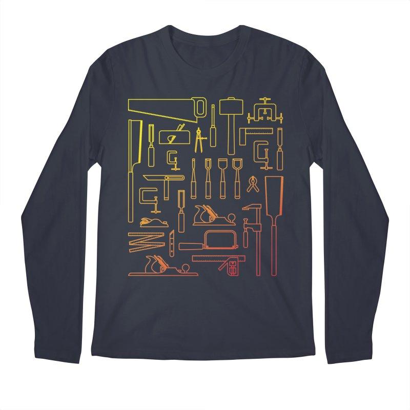 Woodworking Tools V Men's Longsleeve T-Shirt by Mouki K. Butt: Artist Shop
