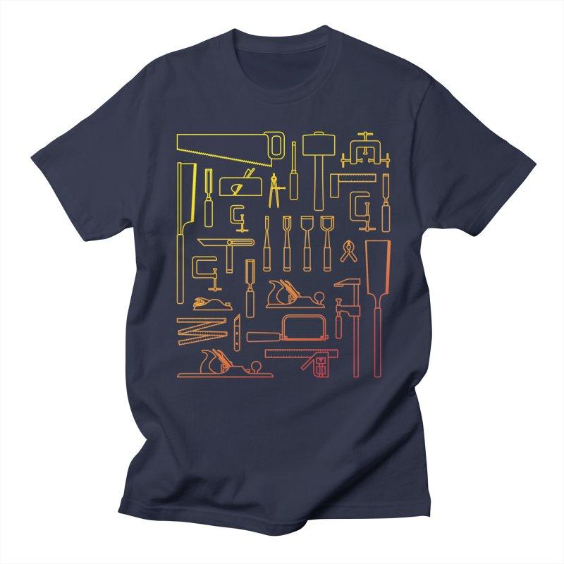 Woodworking Tools V Men's Regular T-Shirt by Mouki K. Butt: Artist Shop