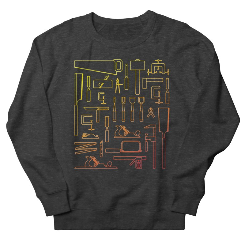 Woodworking Tools V Women's French Terry Sweatshirt by Mouki K. Butt: Artist Shop