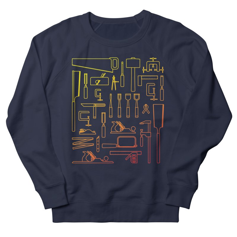 Woodworking Tools V Men's French Terry Sweatshirt by Mouki K. Butt: Artist Shop
