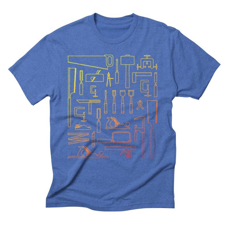 Woodworker's Toolkit Men's Triblend T-Shirt by Mouki K. Butt: Artist Shop
