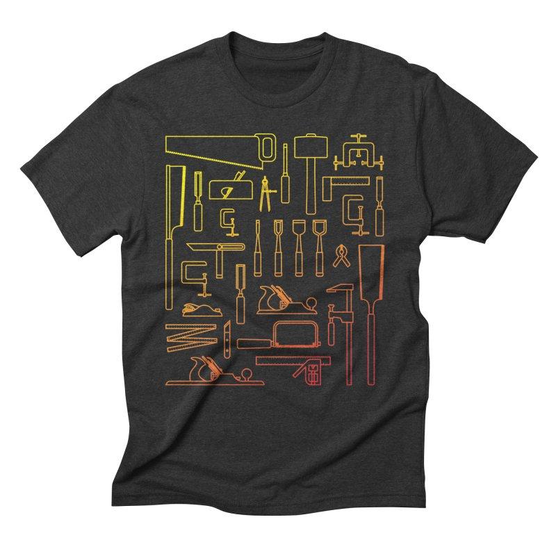 Woodworking Tools V Men's Triblend T-Shirt by Mouki K. Butt: Artist Shop