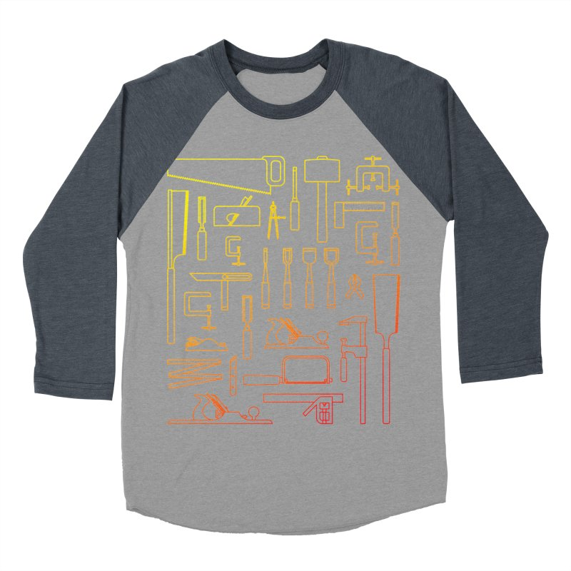 Woodworking Tools V Men's Baseball Triblend T-Shirt by Mouki K. Butt: Artist Shop
