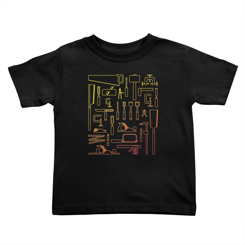 Woodworking Tools V Kids Toddler T-Shirt by Mouki K. Butt: Artist Shop
