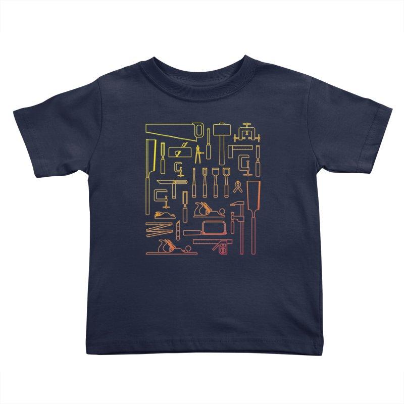 Woodworker's Toolkit Kids Toddler T-Shirt by Mouki K. Butt: Artist Shop