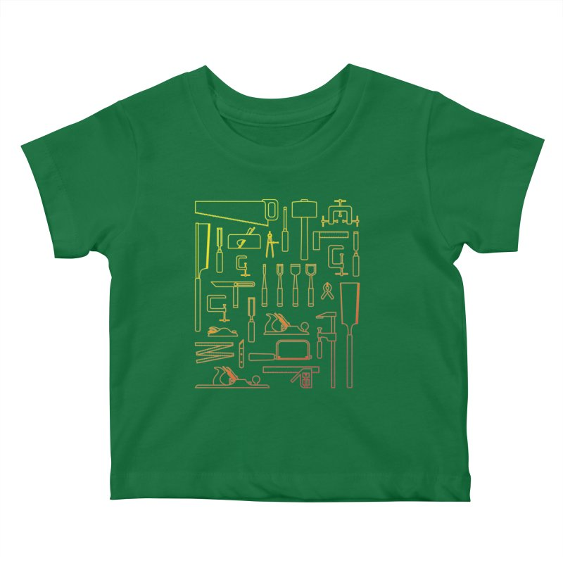 Woodworker's Toolkit Kids Baby T-Shirt by Mouki K. Butt: Artist Shop