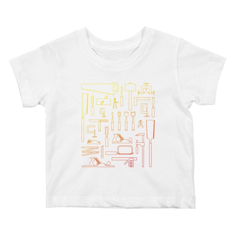 Woodworker's Toolkit Kids Baby T-Shirt by Mouki K. Butt: Artist Shop