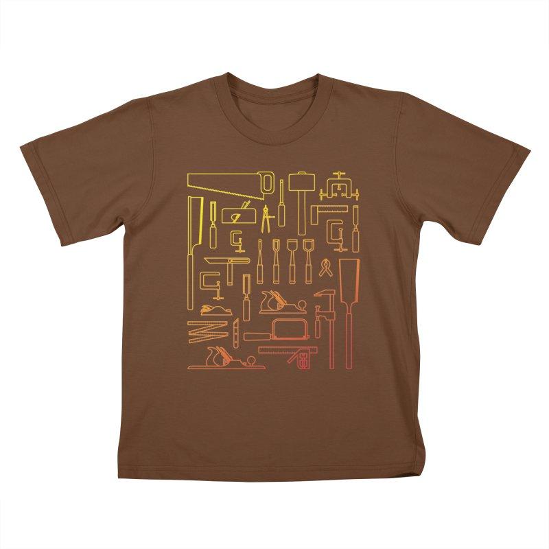 Woodworker's Toolkit Kids T-Shirt by Mouki K. Butt: Artist Shop