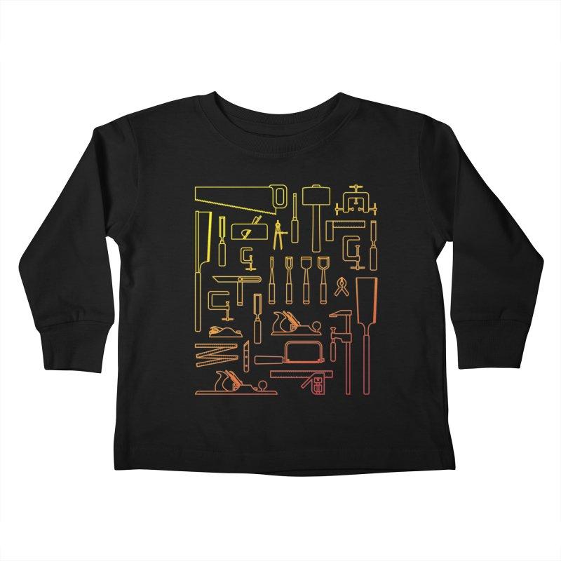 Woodworking Tools V Kids Toddler Longsleeve T-Shirt by Mouki K. Butt: Artist Shop