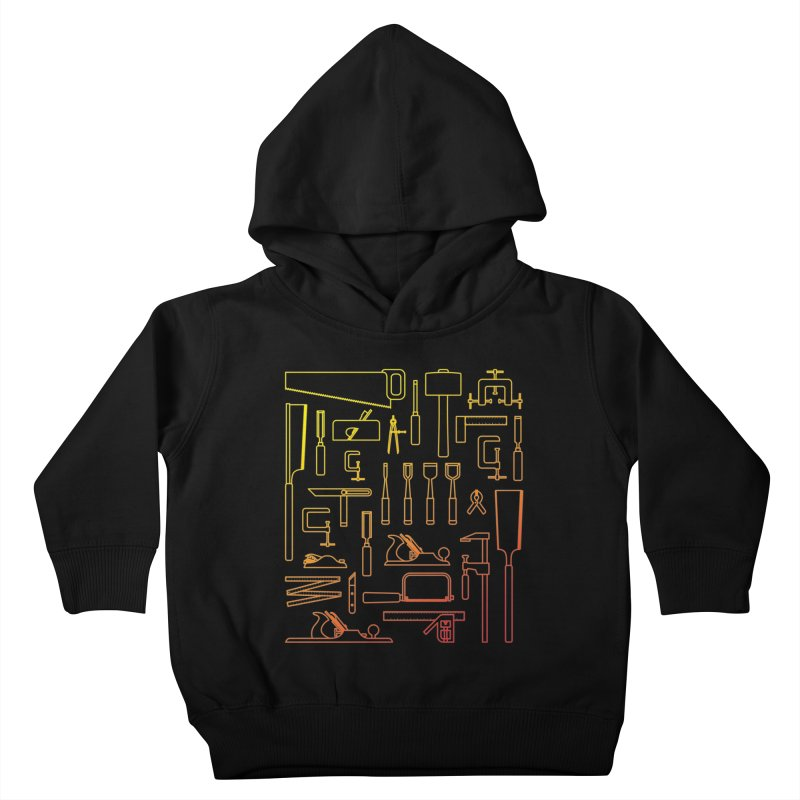 Woodworking Tools V Kids Toddler Pullover Hoody by Mouki K. Butt: Artist Shop
