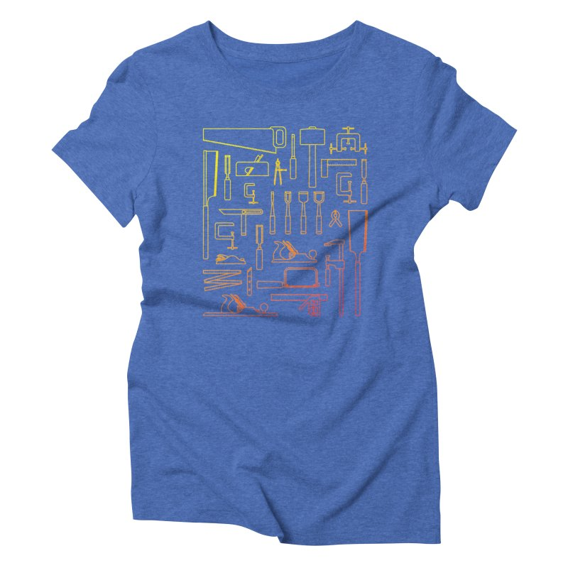 Woodworker's Toolkit Women's Triblend T-Shirt by Mouki K. Butt: Artist Shop