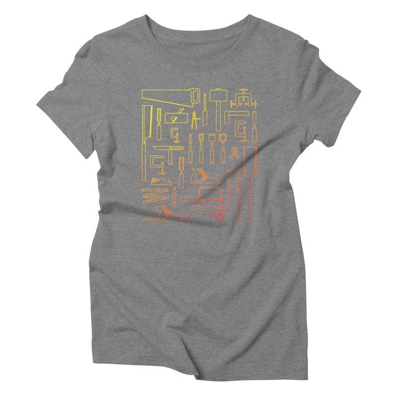 Woodworker's Toolkit Women's Triblend T-Shirt by Mouki K. Butt: Artist Shop