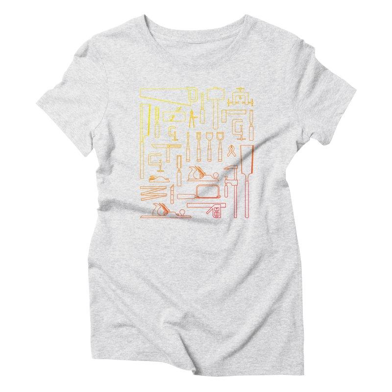 Woodworking Tools V Women's Triblend T-Shirt by Mouki K. Butt: Artist Shop