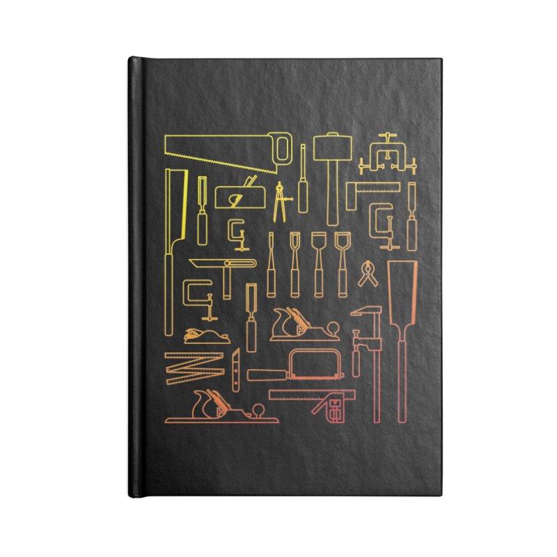 Woodworker's Toolkit Accessories Blank Journal Notebook by Mouki K. Butt: Artist Shop