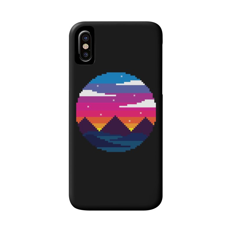 Pixel Sunset Accessories Phone Case by Mouki K. Butt: Artist Shop