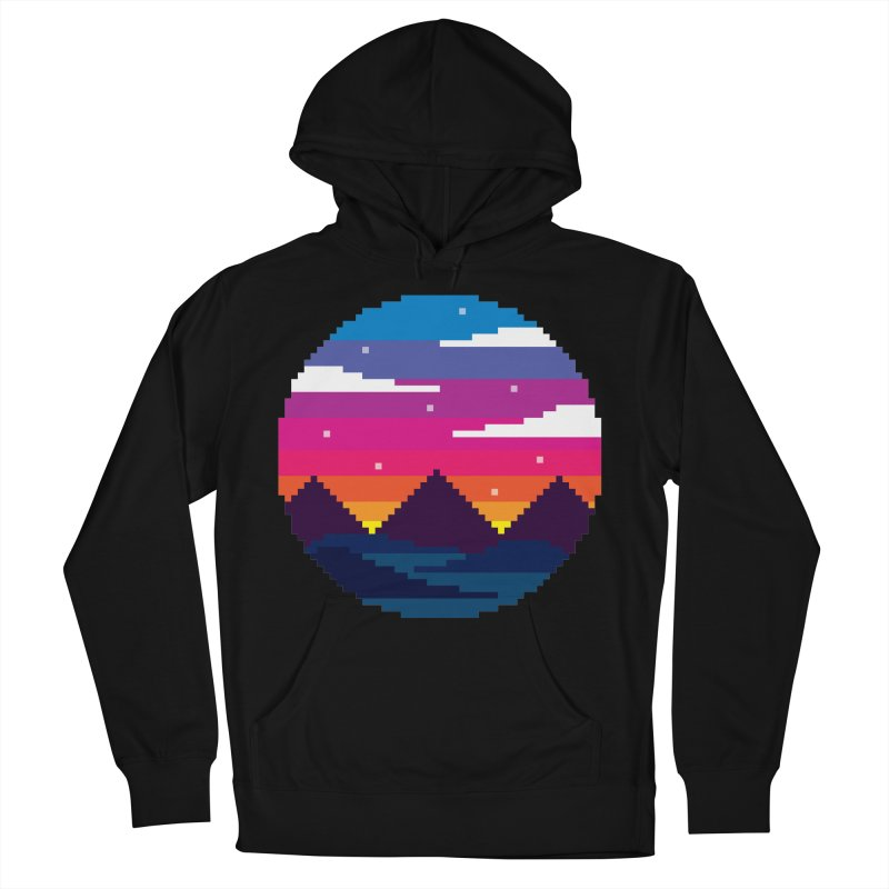 Pixel Sunset Women's French Terry Pullover Hoody by Mouki K. Butt: Artist Shop